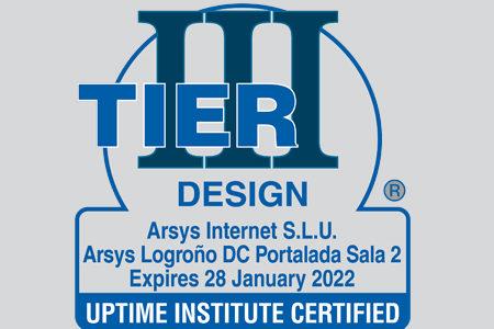 ARSYS consigue la certificación Tier3 para su Centro de Datos de Logroño