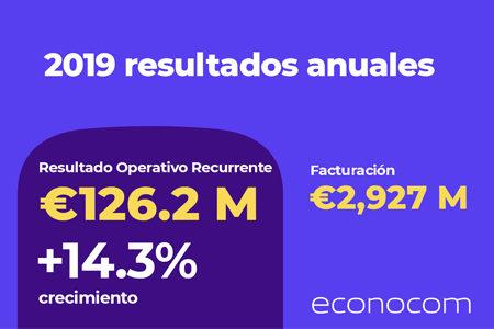 ECONOCOM: Resultados anuales grupo econocom 2019