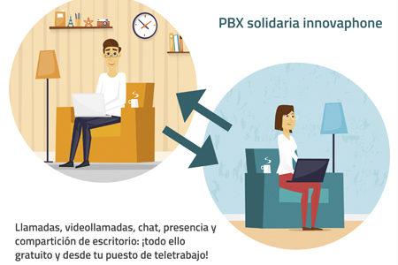 INNOVAPHONE pone a disposición de las empresas una PBX solidaria para escenarios de teletrabajo