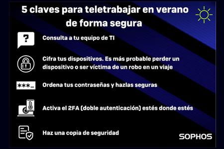 SOPHOS: Cómo teletrabajar desde la playa o la montaña de forma #cibersegura en este atípico verano
