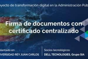 Firma de documentos con certificado centralizado