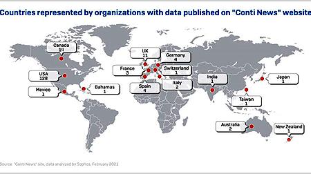 """SOPHOS: El ransomware Conti hace públicos los datos robados mediante la técnica de la """"doble extorsión"""" de casi 200 empresas"""