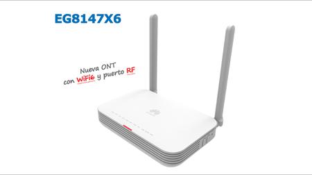 ALEA SOLUCIONES: Nueva Huawei OptiXstar EG8147X6, ONT WIFI6 con puerto RF