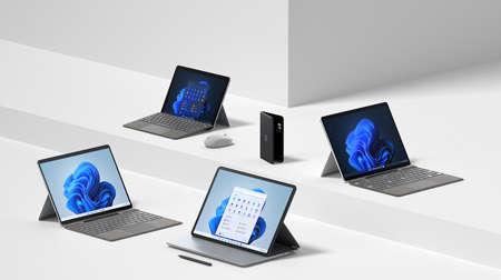MICROSOFT amplía la familia Surface con nuevos dispositivos y accesorios creados para Windows 11